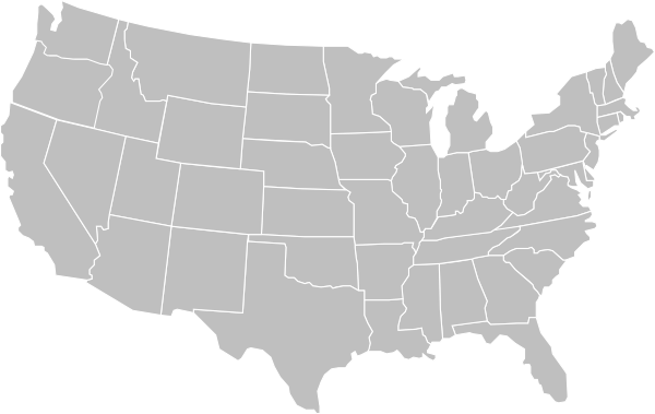 blank gray usa map